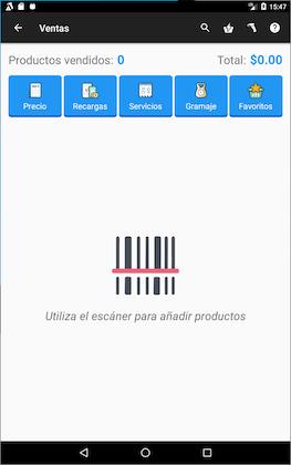 Punto de venta con scaner de productos