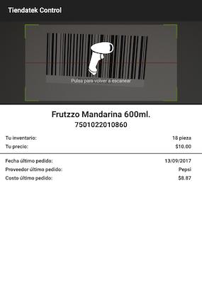 Punto de venta con lector de código de barras